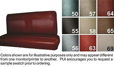 1962-64 Chevrolet Chevy II / Nova / SS Black Coupe Rear Seat Cover - PUI