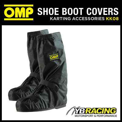 Kk08 Omp Nylon Rainproof Kart Karting Boot Covers - Put Over Race Boots In Rain!