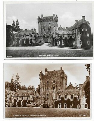 [1348] Scotland Nairnshire R/P Postcard's Two cards of Cawdor castle