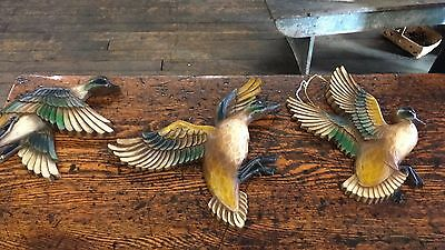 Vintage Syroco Duck Plaques Set Of 3