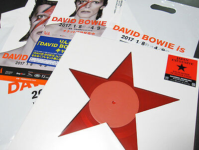 NEW Limited JAPAN ONLY 12inch Red Vinyl David Bowie blackstar  beatles stones