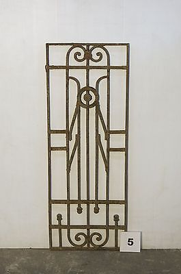 Antique Egyptian Architectural Wrought Iron Panel Grate (IS-005)
