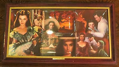 (6) Gone With The Wind Bradford Exchange Collectors Plates COA's, Boxes & FRAME