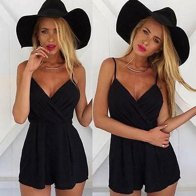 Women Sexy Playsuit Bodycon Party Jumpsuit Romper Trousers Clubwear Dress UK A