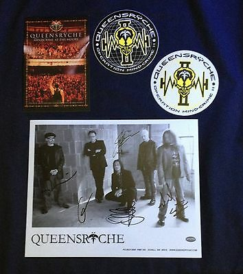 Queensryche Fan Club Signed Operation Mindcrime at the Moore Promo Photo+Sticker