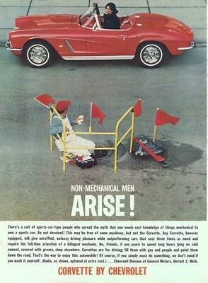 1962 Chevrolet CORVETTE STING RAY Original AD Red Convertable DETROIT MICHIGAN