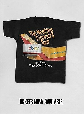 Southwest Airlines 1999 Meeting Planners Tour 737-300 T-Shirt 2 Sided Ad