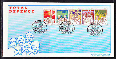 Singapore 1984 Total Defence First Day Cover. - Unaddressed