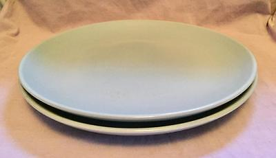 "Set Of 2 Russell Wright 10"" Dish Plate Pastel Blue Iroquois Casual China"