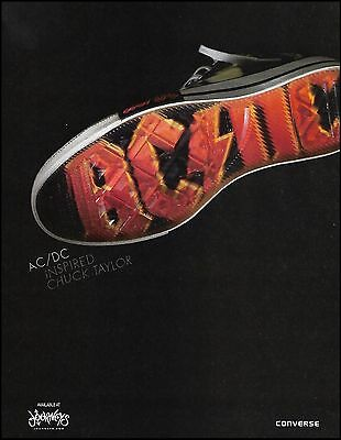 AC/DC Chuck Taylor Converse Shoes ad 8 x 11 advertisement print ready to frame
