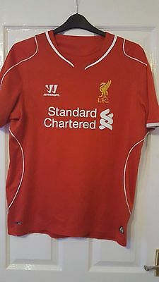 Mens Football Shirt - Liverpool FC - Home 2014-2015 - Warrior - Size L - Red