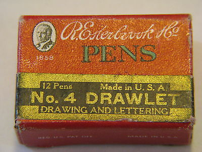 New Old Stock Esterbrook Lettering And Drawing Drawlet #4 Pen Nibs