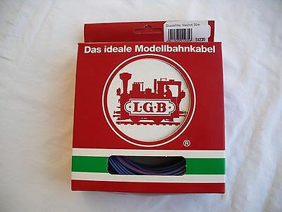 LGB 51235 Double Connector Wire,Blue/Red 20m, L.G.B. Lehmann Gross Bahn, G Scale