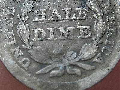 1855 P Seated Liberty Half Dime- Good/VG Details