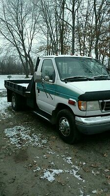 1997 Ford E-Series Van  1997 Ford E-350 Flatbed Stake Van Dually 7.3L Diesel Automatic