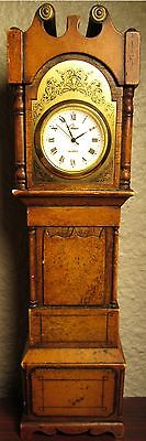 """Vintage Chass Grandfather Clock Dealers Sample - 9"""" tall"""