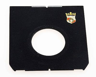 Wista Lens Board (42mm Hole) - 96mmx98mm Panel Also For Linhof, Shen Hao Etc.