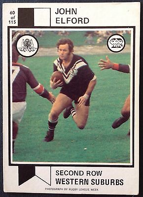 Scanlens 1974 Rugby League Football Card # 60