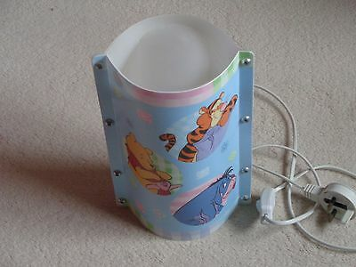 Disney Winnie The Poo Bedside Light With Low Wattage   Vgc