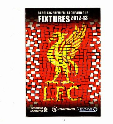 2012-2013 Liverpool Fixtures Booklet  POST FREE