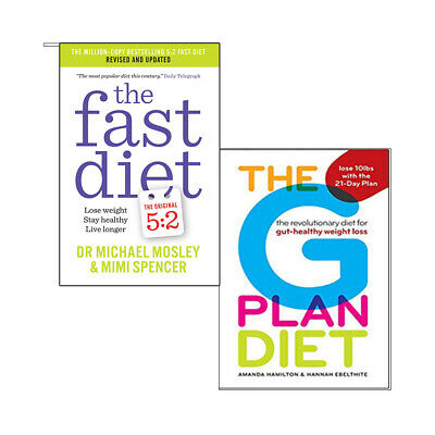 Fast Diet healthy weight loss Book Collection 2 Books Set (The G Plan Diet) NEW