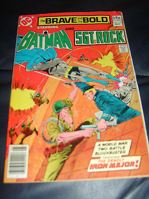 Brave And The Bold #162 May 1980 (FN) Batman & Sgt Rock