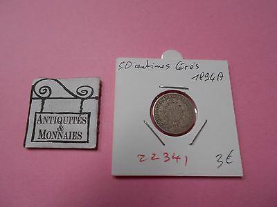 50 Centimes Ceres 1894 A - Old French Coin - Ref22341