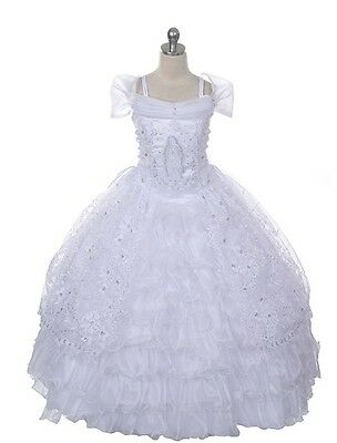 Stunning Full Length Mary First  Holy Communion Dress. White Age 16 Years.