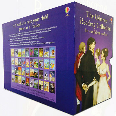 Usborne Reading Collection for Confident Readers Purple Edition 40 Books Box set