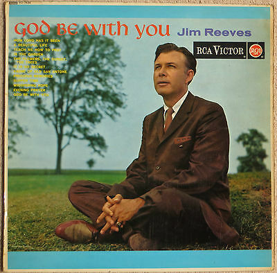 JIM REEVES - God Be With You - vinyl LP UK 1959 RCA Victor mono