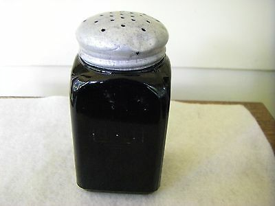 Vintage Ebony Black Shaker Bottle