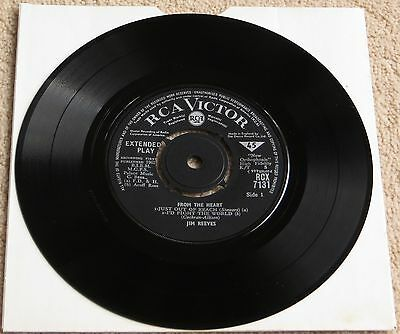 JIM REEVES - From The Heart - vinyl EP 1962 RCA Victor RCX7131 no sleeve / EX