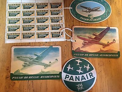 PANAIR DO BRASIL 1940s Baggage Check Labels, Stamps And Decals