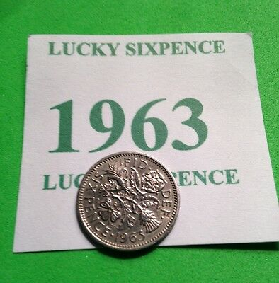 Queen Elizabeth II 1963 Sixpence coin  54th Birthday or 54th Wedding gift