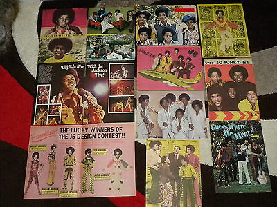 Michael Jackson / Jackson 5 – Concert Book / Magazine Clippings / Pin-Ups