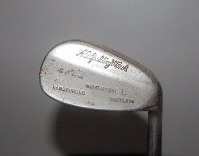 A G SPALDING GOLF CLUB Gold Medal L SHAFT Vintage OLD IRON 8 EARLY STEEL SHAFTED