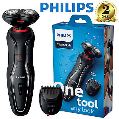 Philips Click and Style Mens Cordless Electric Shaver Beard Trimmer S720/17