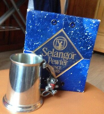 pewter tankard, Small Traditional Christening Gift.