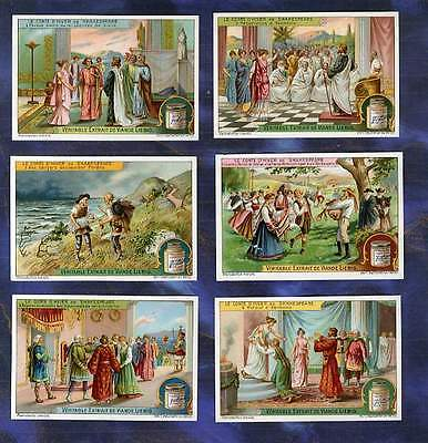 serie 6 Chromos Liebig S1101 FR Conte d'hiver Winter's Tale Shakespeare 1914