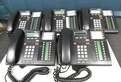 Lot of 5 Nortel Norstar Networks T7316E Office Phones w/ Stands & Handsets!