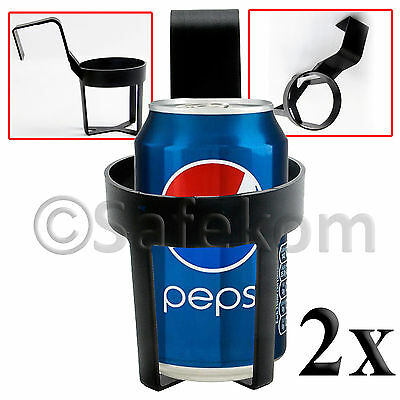 2 Pcs New Car Truck Door Mount Drinks Cup Beverage Water Bottle Can Holder Stand