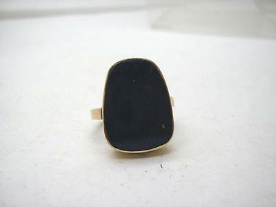 Vintage 18ct Gold Hand Made Natural Lapis Lauli Heavy Ring size L 1/2