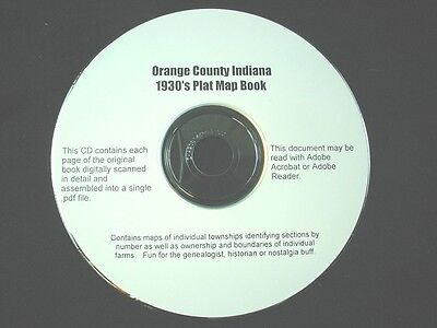 CD ~ 1930's Orange County Indiana Plat Map Book