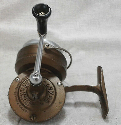 Vintage Luxor Pezon & Michel B Spinning Fishing Reel Made in France Copper Gold