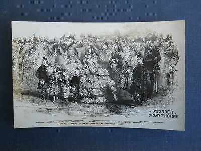 The Royal Family at Wellington College, Vintage Sworder's Advertising Postcard