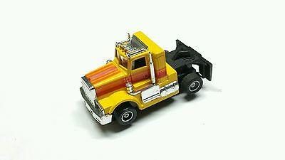 VHTF Tyco US-1 Trucking Yellow Peterbilt Semi In Great Cond w/Lighted Chassis