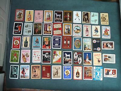 50 All Different Old Whisky Advertising Single Playing Cards