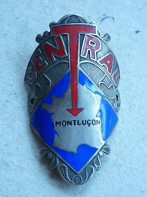 Unknown Vintage French Bicycle Head Badge Central Montlucon