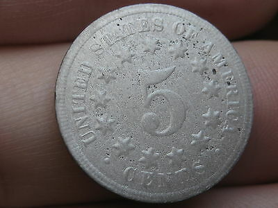 1869 Shield Nickel 5 Cent Piece- Scarce Type Coin