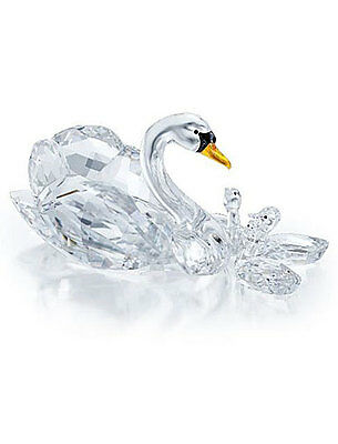 Swarovski Crystal Scs Jubilee Edition 2017 Swans 5233542.new In Box